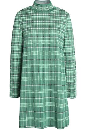 M MISSONI Checked woven mini dress