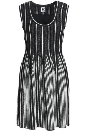M MISSONI Metallic ribbed crochet-knit dress