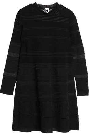 M MISSONI Embroidered crochet-knit mini dress