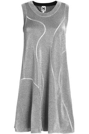 M MISSONI Fluted metallic knitted mini dress