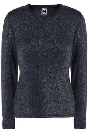 M MISSONI Tulle-paneled crochet-knit sweater