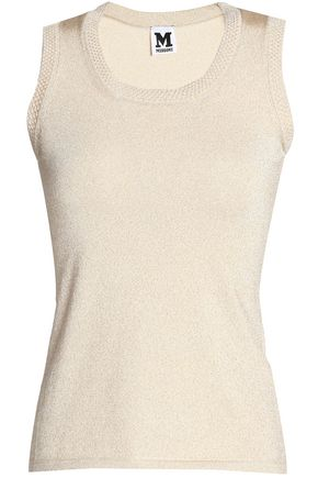 M MISSONI Metallic stretch-knit top