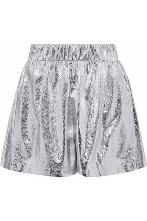 M MISSONI Cracked-lamé shorts