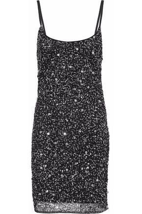W118 by WALTER BAKER Sequinned tulle mini dress