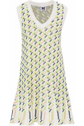 M MISSONI Printed stretch-knit mini dress