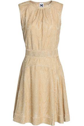M MISSONI Metallic crochet cotton-blend mini dress