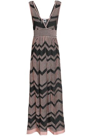 M MISSONI Metallic ribbed and pointelle-knit maxi dress