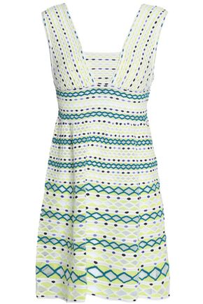 M MISSONI Printed crochet-knit mini dress