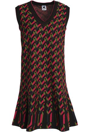 M MISSONI Printed stretch-knit mini dress
