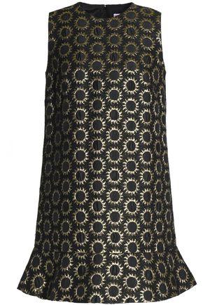 REDValentino Fluted metallic jacquard mini dress