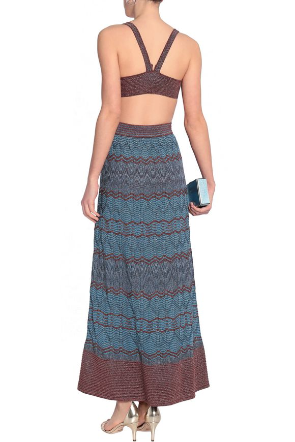 Cutout metallic crochet-knit maxi dress | M MISSONI | Sale up to 70% off |  THE OUTNET