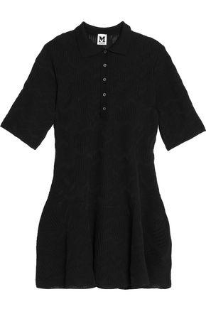 M MISSONI Pointelle-knit mini shirt dress