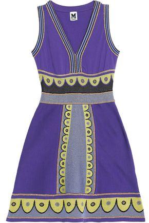 M MISSONI Metallic printed stretch-knit midi dress