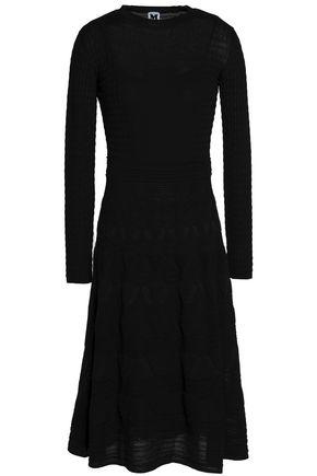 M MISSONI Metallic crochet-knit wool-blend dress