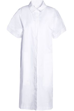 DKNY PURE Cotton-blend poplin midi dress