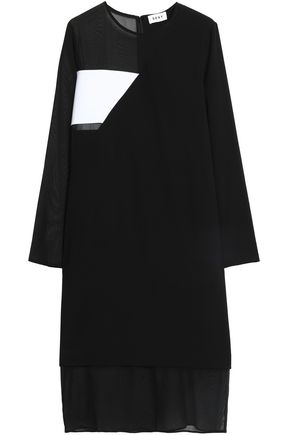 DKNY Paneled crepe dress