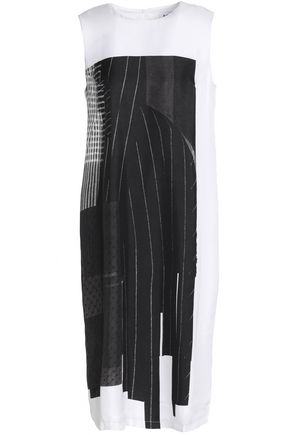 DKNY Paneled silk dress