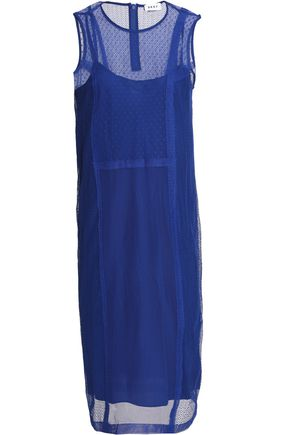 DKNY Mesh cotton-blend dress