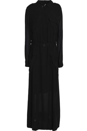 DKNY PURE Belted maxi dress