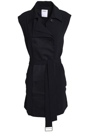 DKNY Double-breasted crepe vest
