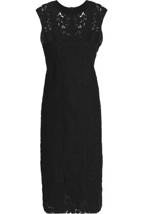 DKNY Cotton-blend lace dress