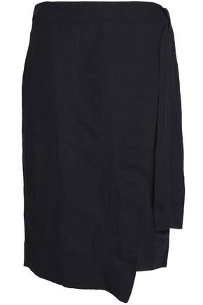 DKNY Crepe wrap skirt