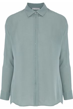 VINCE. Washed-silk shirt