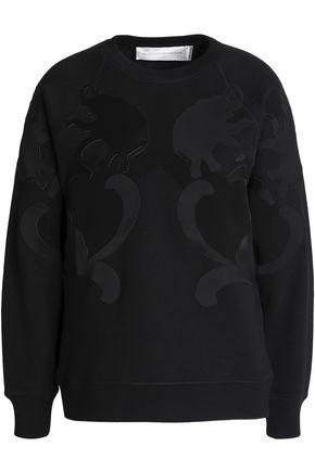 VICTORIA, VICTORIA BECKHAM Paneled cotton-jersey sweatshirt