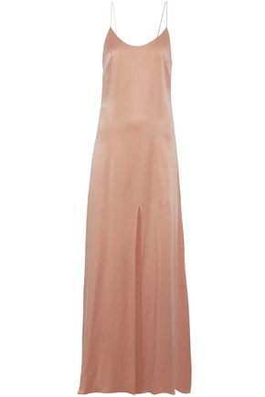 ALICE + OLIVIA Split-front washed-silk gown