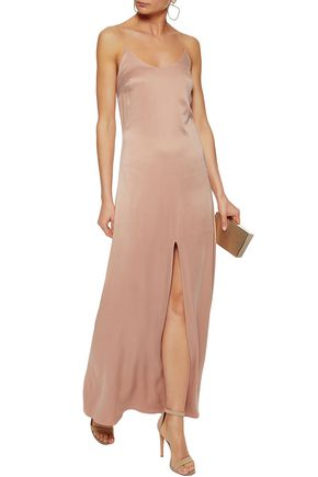 Split Front Washed Silk Gown by Alice+Olivia