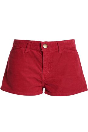 CURRENT/ELLIOTT +Charlotte Gainsbourg cotton-corduroy shorts