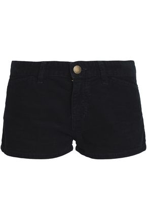 CURRENT/ELLIOTT Cotton-corduroy shorts