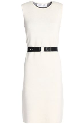 VICTORIA, VICTORIA BECKHAM Belted wool and cashmere-blend dress