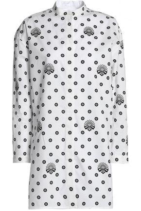 VICTORIA, VICTORIA BECKHAM Printed cotton-poplin shirt