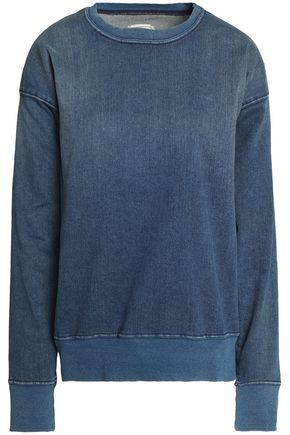 CURRENT/ELLIOTT Faded denim sweatshirt