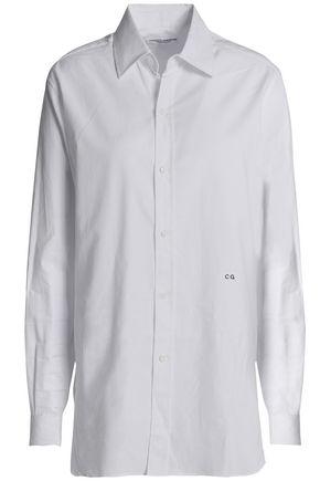 CURRENT/ELLIOT + CHARLOTTE GAINSBOURG Embroidered cotton-piqué shirt