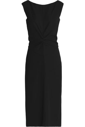 NINA RICCI Ruched wool dress