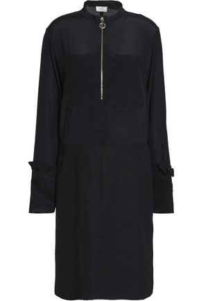 NINA RICCI Embellished wool and silk-blend dress