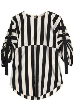 NINA RICCI Striped silk top
