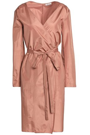 NINA RICCI Wrap-effect silk-satin dress