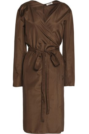 NINA RICCI Silk-habotai wrap dress