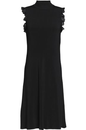 NINA RICCI Ruffled crepe de chine dress