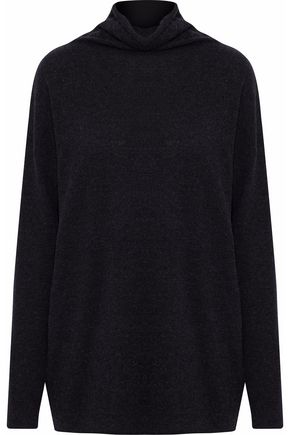 VINCE. Mélange cashmere turtleneck sweater