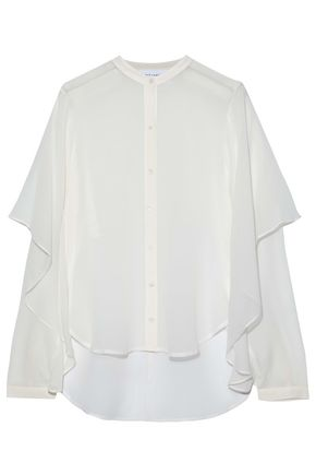 ROBERT RODRIGUEZ Layered silk-chiffon blouse