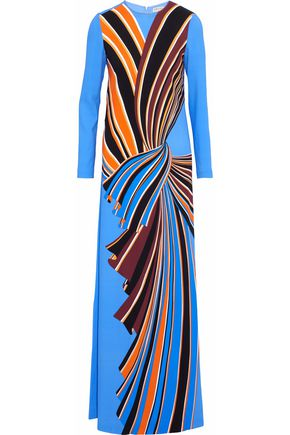 EMILIO PUCCI Printed crepe gown