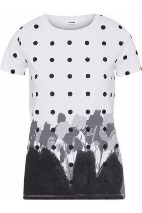 JIL SANDER Printed cotton-jersey T-shirt