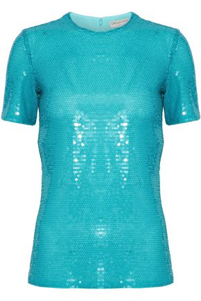 EMILIO PUCCI Sequined tulle top