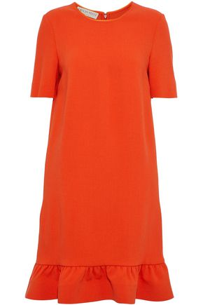 EMILIO PUCCI Fluted wool-blend mini dress