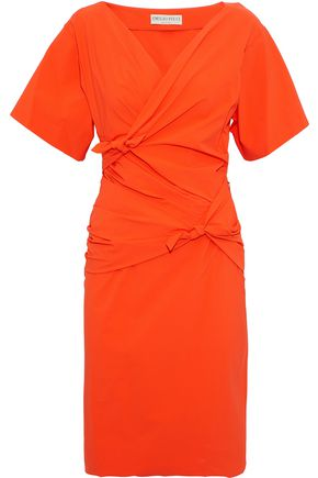 EMILIO PUCCI Knotted crepe de chine dress