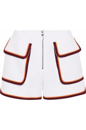 EMILIO PUCCI Zip-detailed cady shorts